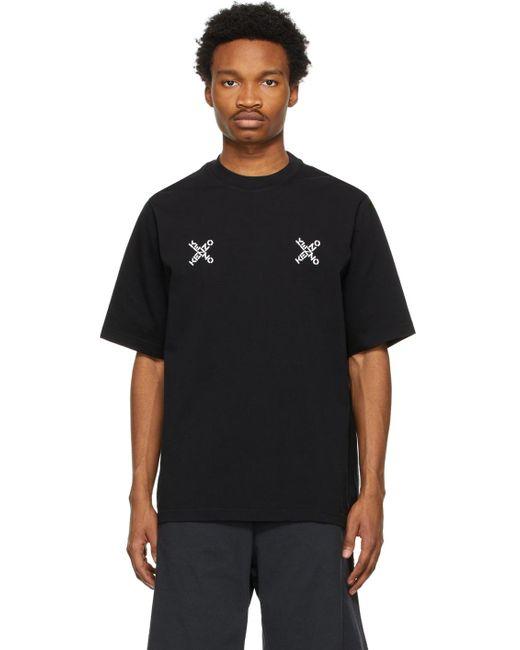 メンズ KENZO ブラック Sport Triple X T シャツ Black