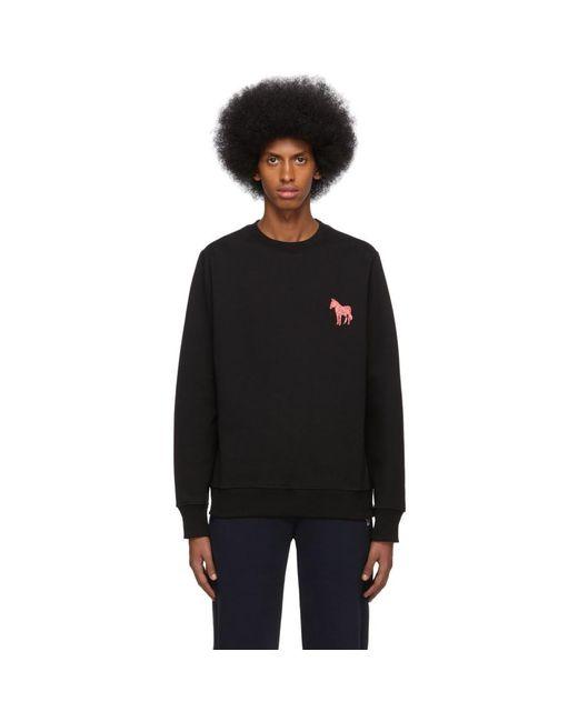 メンズ PS by Paul Smith ブラック エンブロイダリー Zebra スウェットシャツ Black