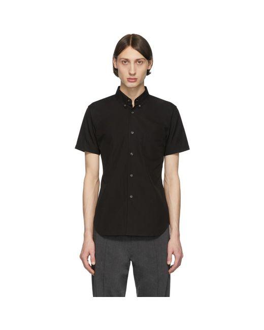 メンズ Comme des Garçons ブラック コットン ポプリン ショート スリーブ シャツ Black
