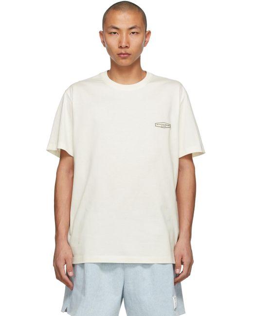 メンズ Wooyoungmi オフホワイト ロゴ T シャツ White