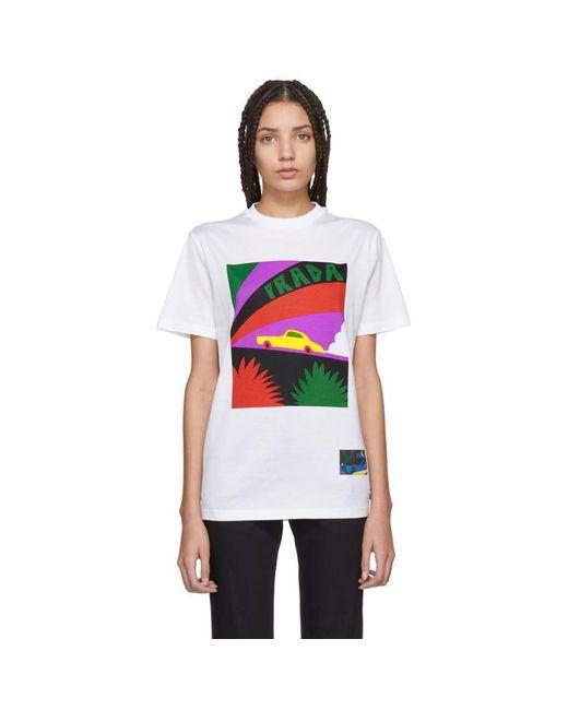 Prada - White Saint Taxi T-shirt - Lyst