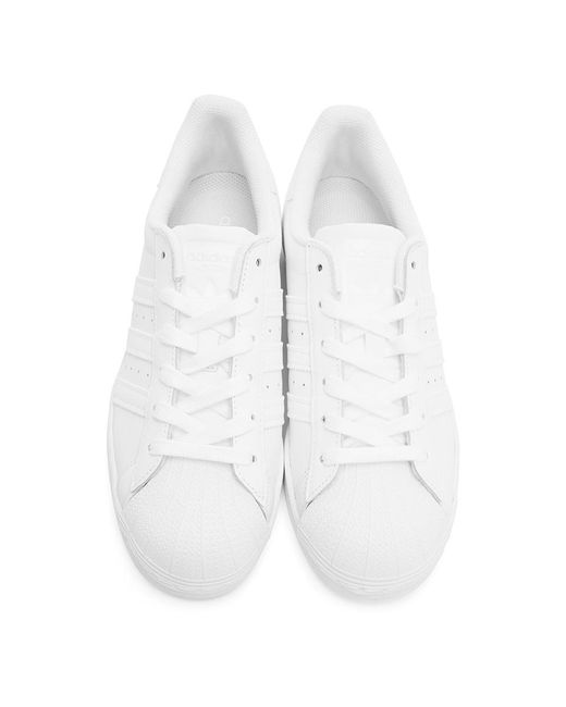Adidas Originals Prada Edition ホワイト And ブラック Superstar スニーカー White