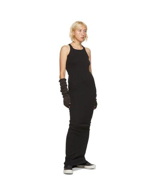 Rick Owens Drkshdw ブラック リブ タンク ドレス Black