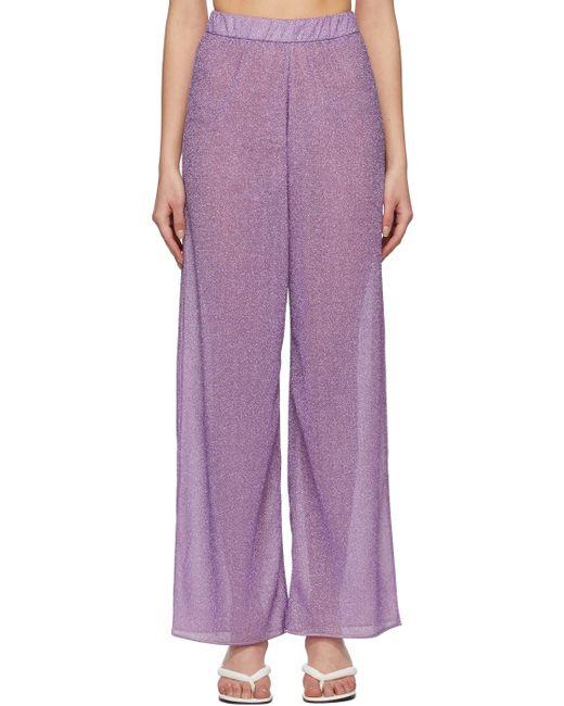 Oseree パープル Lumière ラウンジ パンツ Purple