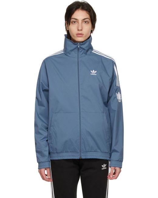 Adidas Originals ブルー Adicolor 3d Trefoil トラック ジャケット Blue