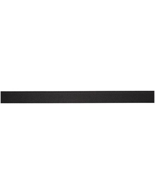 メンズ Saint Laurent ブラック スクエア モノグラム ベルト Black
