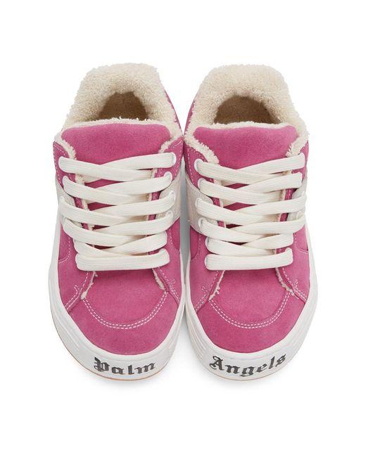 Palm Angels ピンク スエード スノー ローカット スニーカー Pink