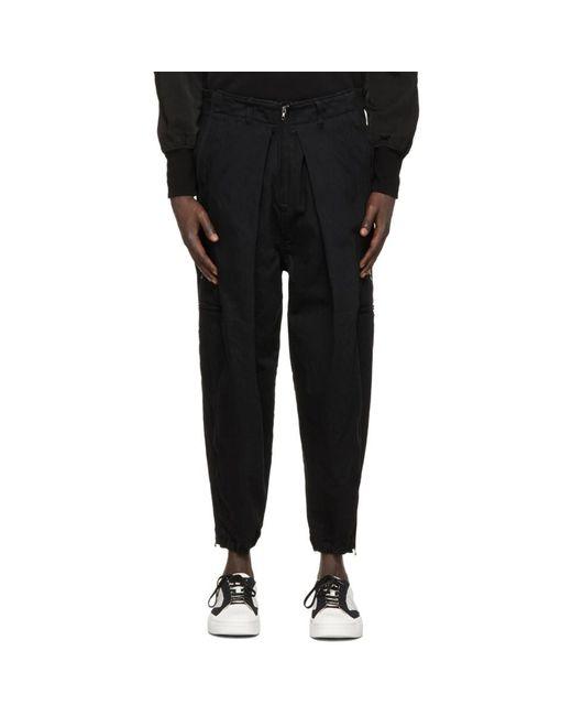メンズ Julius ブラック カーゴ パンツ Black