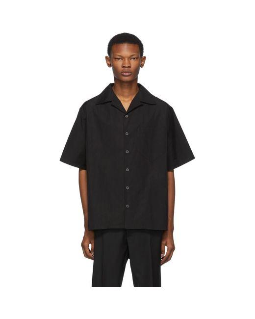 メンズ Prada ブラック ポプリン シャツ Black