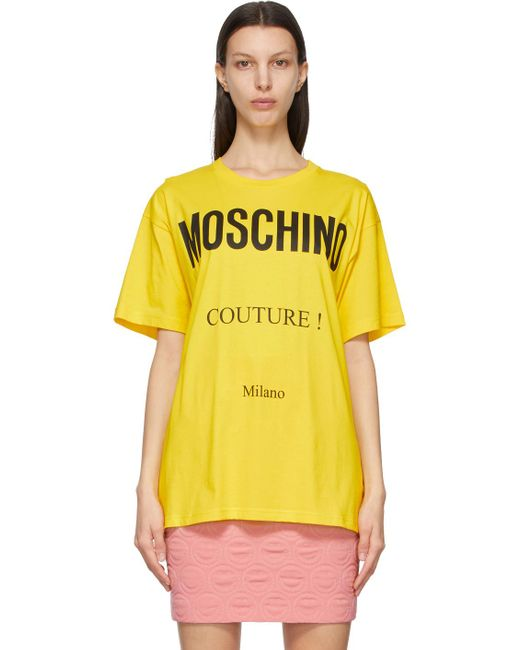 Moschino イエロー Couture! T シャツ Yellow