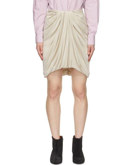 Isabel Marant ベージュ Disparis ミニスカート Natural