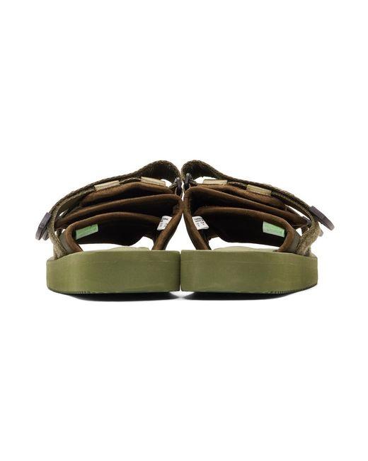 786d08f0c2d1 ... Suicoke - Green Moto-cab Sandals for Men - Lyst ...
