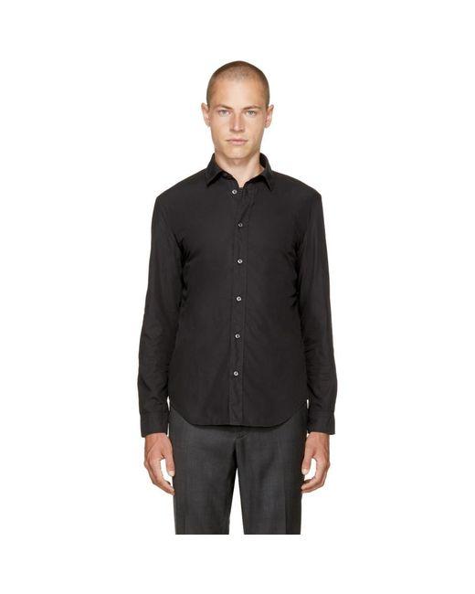 Maison Margiela - Black Poplin Shirt for Men - Lyst