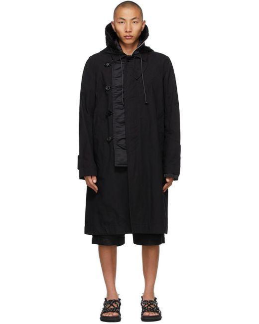 メンズ Sacai ブラック Oxford コート Black