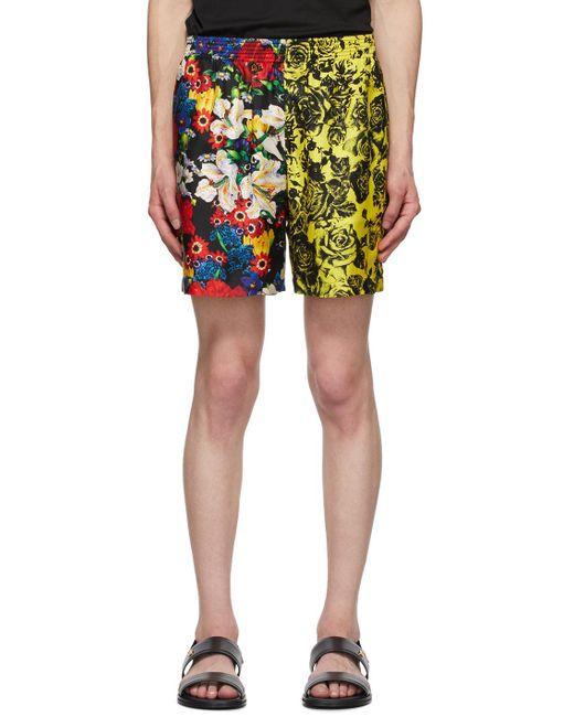 メンズ Versace Ssense 限定 マルチカラー シルク Bouquet ショーツ Multicolor