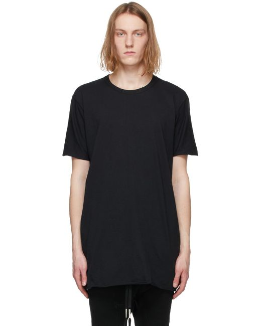 メンズ Boris Bidjan Saberi ブラック Object-dyed T シャツ Black