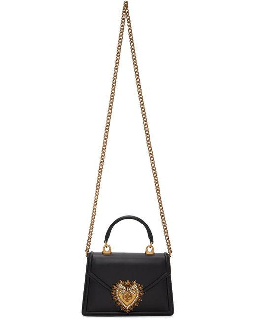 Dolce & Gabbana ブラック スモール Devotion バッグ Black