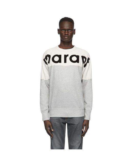 Isabel Marant Gray Grey Houston Sweatshirt for men