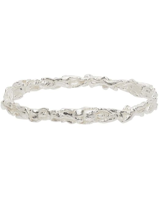 Georgia Kemball Metallic Silver Orgy Bangle Bracelet for men