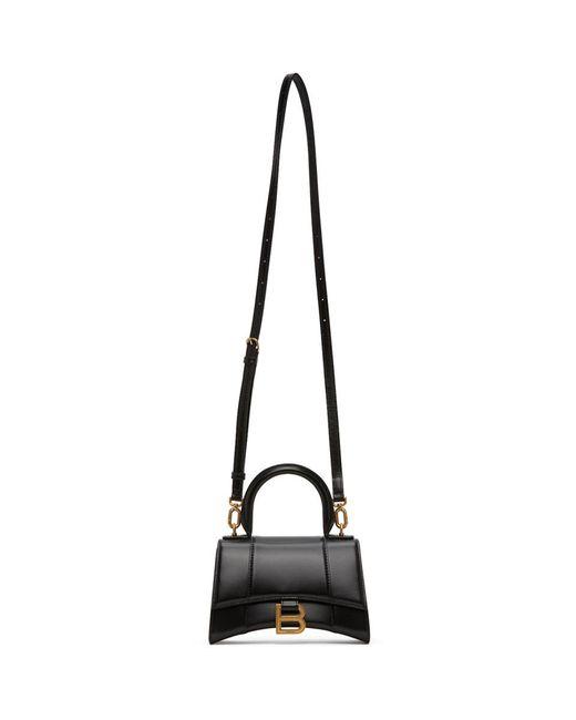 Balenciaga ブラック Xs Hourglass トップ ハンドル バッグ Black