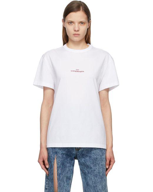 Maison Margiela Ssense 限定 ホワイト ロゴ T シャツ White