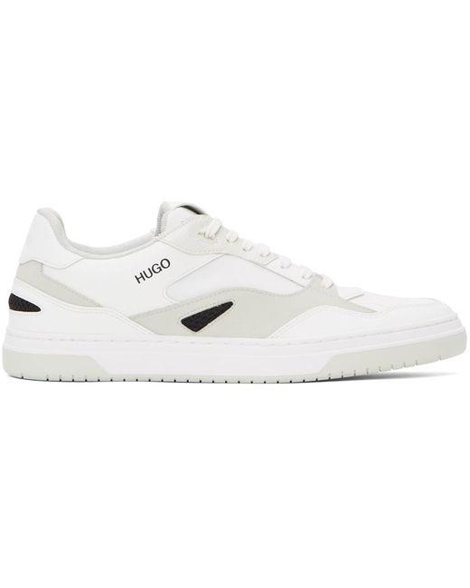 メンズ HUGO ホワイト & グレー Switon テニス スニーカー White