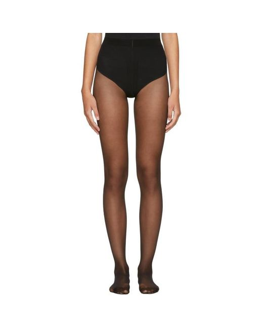Wolford | Black Individual 10 Back Seam Tights | Lyst