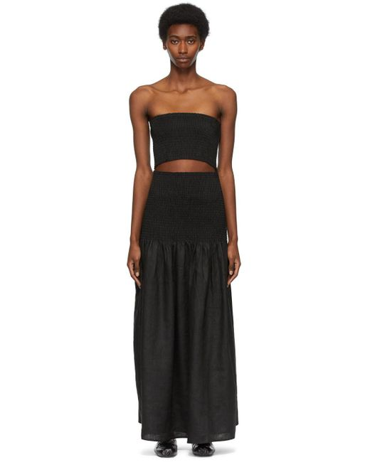 Sir. The Label ブラック Madelyn ストラップレス ドレス Black