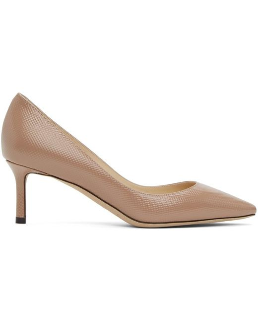 Jimmy Choo Multicolor Pink Patent 60 Heels