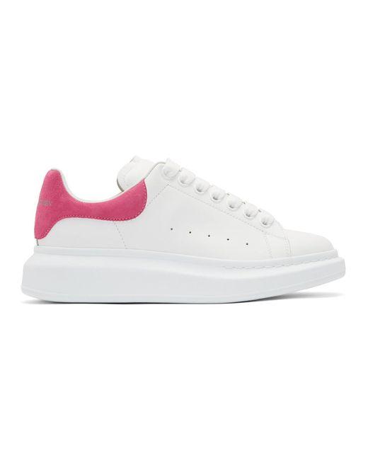 メンズ Alexander McQueen ホワイト And ピンク オーバーサイズ スニーカー Multicolor