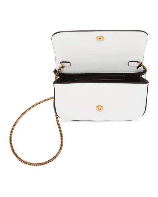 Versace White Virtus Shoulder Bag