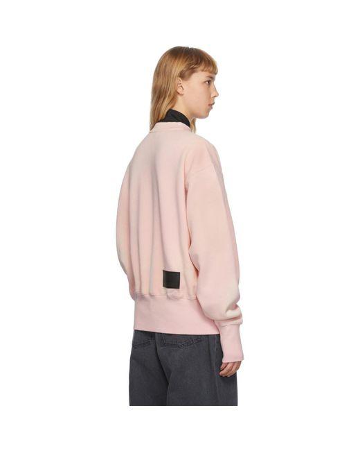 we11done ピンク Iridescent ロゴ スウェットシャツ Pink