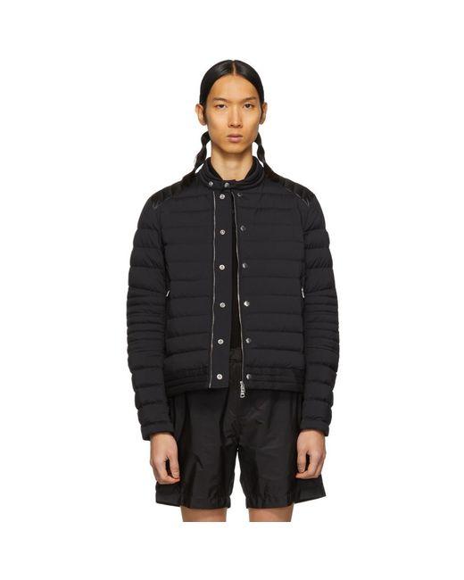 Moncler Black Down Barral Puffer Jacket for men