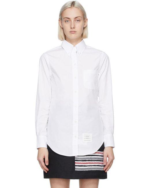 Thom Browne ホワイト カラー シャツ White