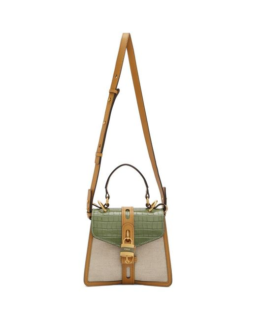 Chloé オフホワイト And グリーン スモール Aby Day バッグ Green