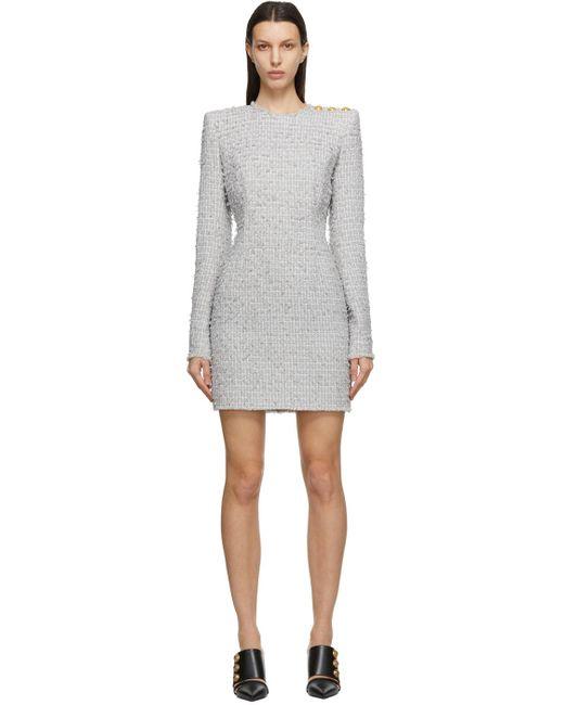 Balmain グレー ミニ ドレス Gray