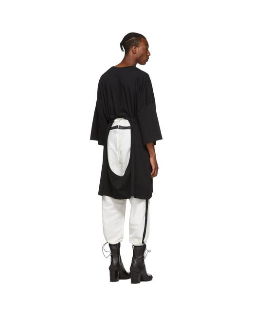 メンズ Random Identities ブラック オーバーサイズ マキシ ベルト T シャツ Black
