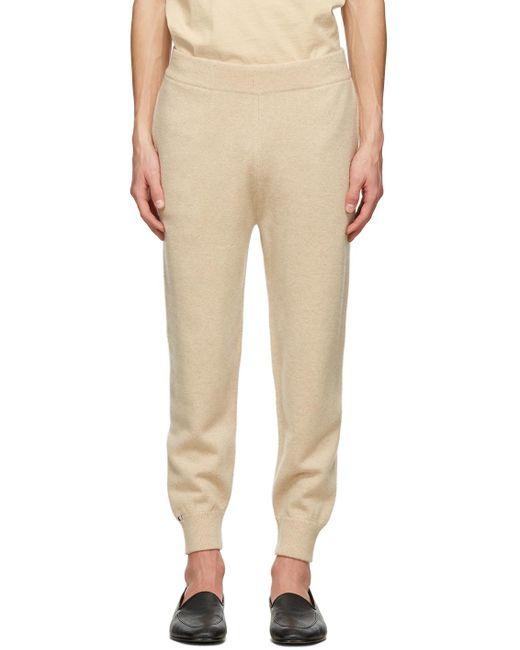 メンズ Extreme Cashmere ベージュ N°56 Yogi ラウンジ パンツ Natural