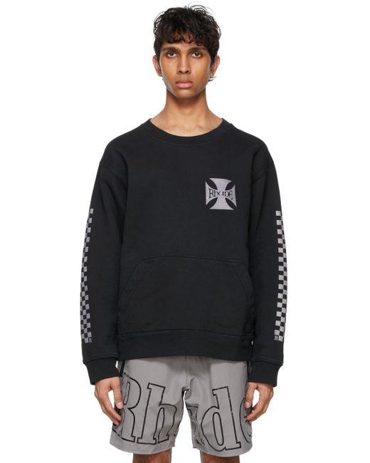 メンズ Rhude ブラック Classic Checker スウェットシャツ Black