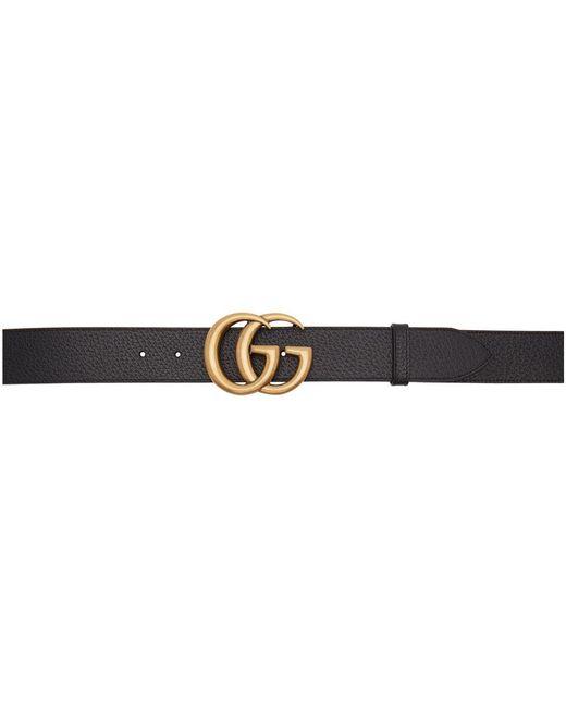 Ceinture noire Marmont Gucci pour homme en coloris Black