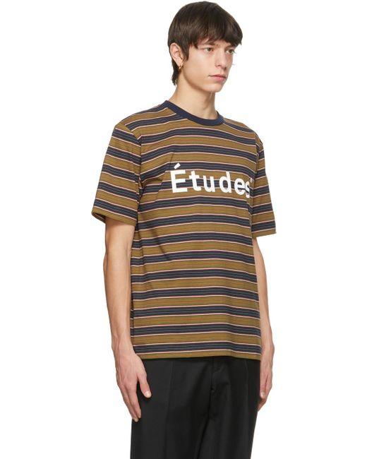 メンズ Etudes Studio マルチカラー ストライプ Wonder T シャツ Multicolor