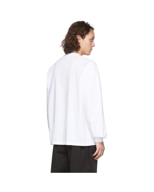 メンズ Random Identities ホワイト バック ロゴ T シャツ White