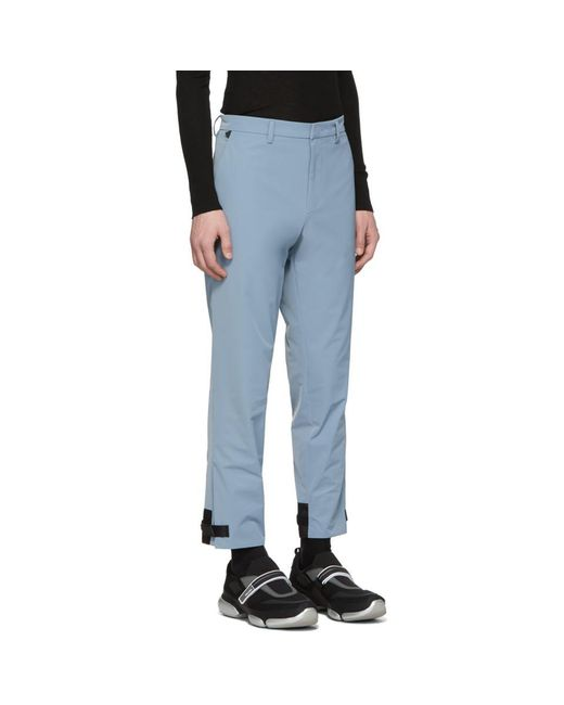 eff8859f Prada Blue Techno Trousers for Men - Lyst