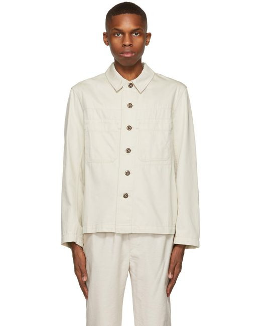メンズ Lemaire オフホワイト デニム ワークウェア ジャケット White
