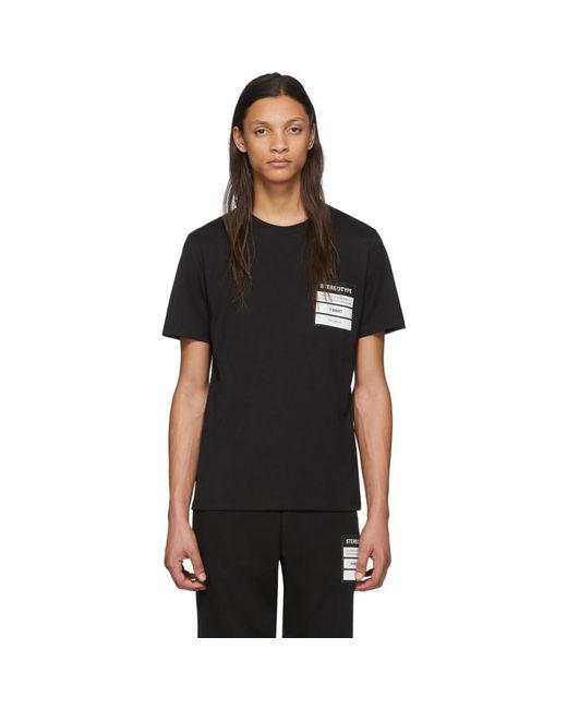メンズ Maison Margiela ブラック オーガニック コットン ステレオタイプ T シャツ Black