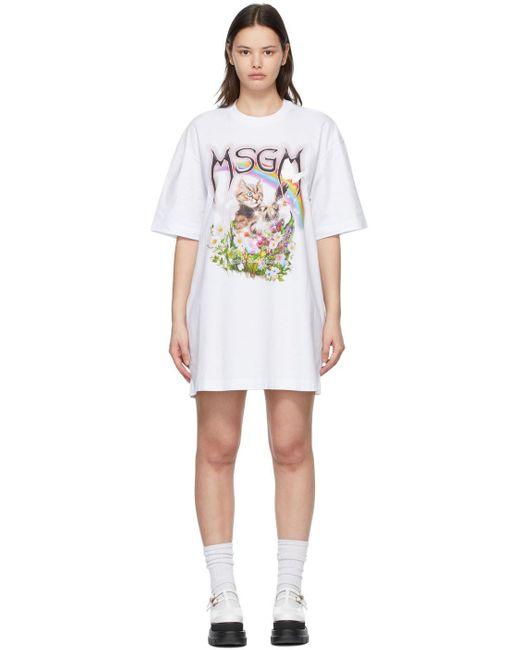 MSGM ホワイト Cat ドレス White
