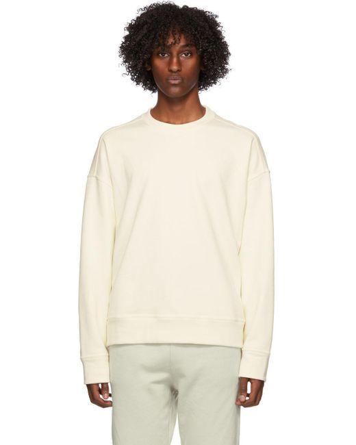 メンズ Jil Sander オフホワイト フレンチ テリー スウェットシャツ White
