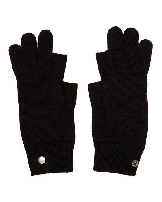 Gants noirs Larry Touchscreen Rick Owens pour homme en coloris Black