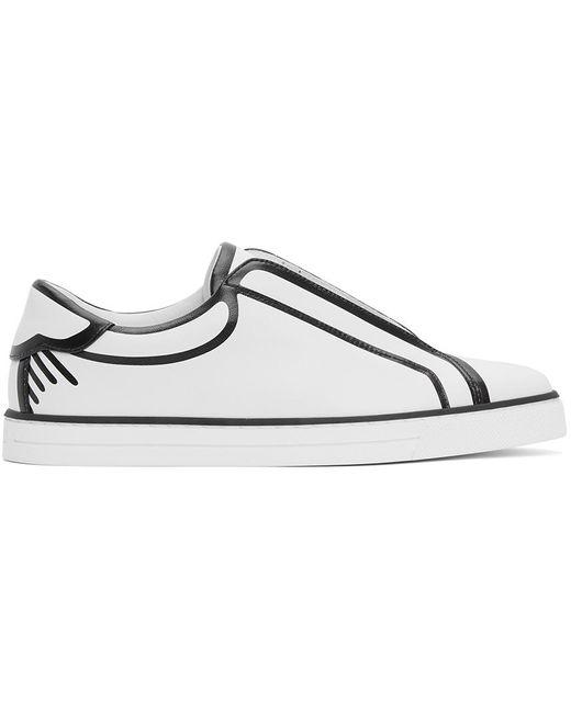 Fendi Joshua Vides Edition ホワイト & ブラック レザー スニーカー White