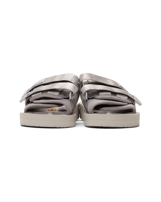 2a8082f388c2 ... Suicoke - Gray Grey Suede Moto-vs Sandals for Men - Lyst ...